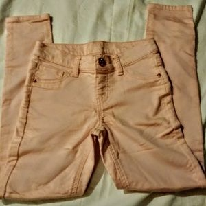 Justice pale pink Jeggings size 10